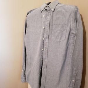 Grey Ralph Lauren Rugby Button Up Shirt